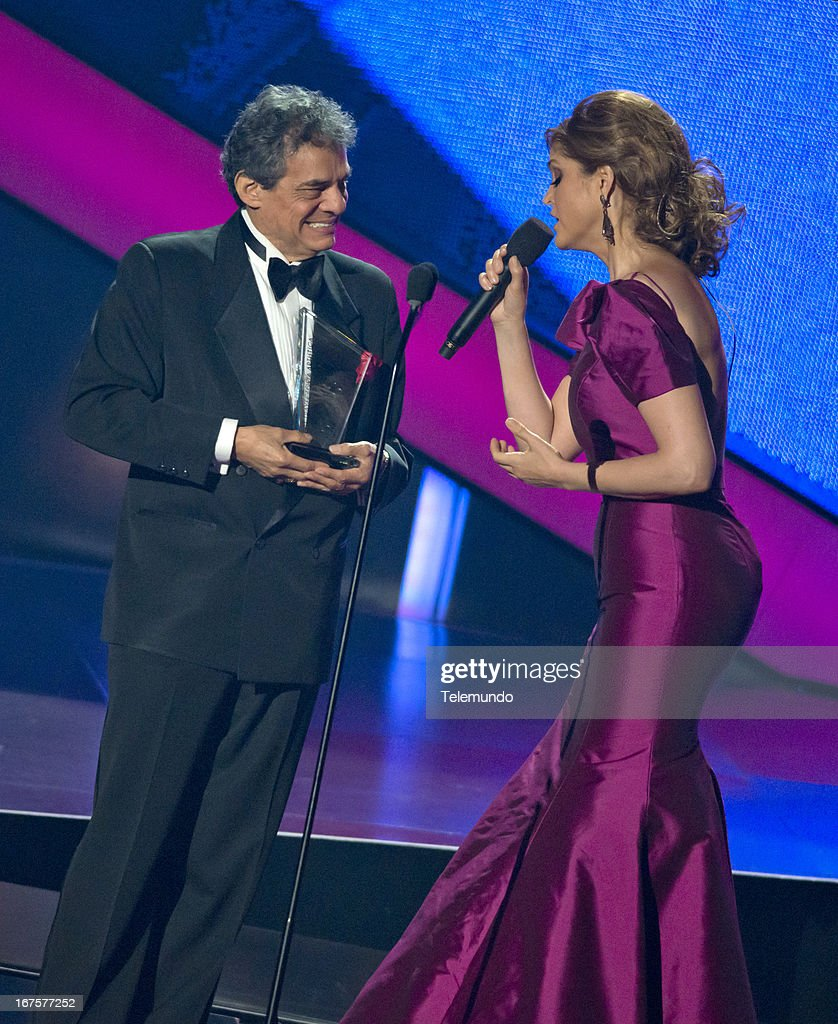 Ana Barbara sings to Jose Jose during the 2013 Billboard Latin Music Awards held at the BankUnited Center, University of Miami in Miami, Florida on April 25, 2013 --