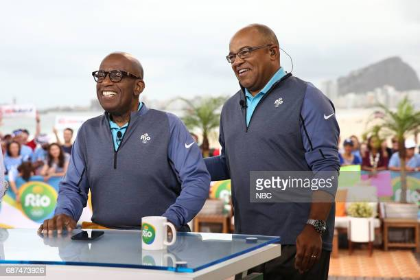Anchor Al Roker and Mike Tirico appear on NBC's 'TODAY' show at the Rio Olympics on Monday August 8 2016
