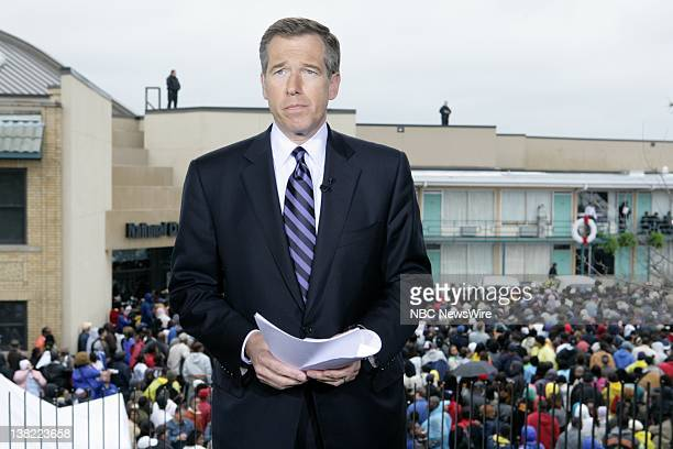 Anchor and Managing Editor Brian Williams interviews Presidential Candidates on NBC Nightly News with Brian Williams in Memphis TN on April 4 2008
