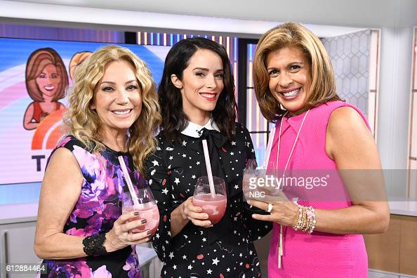 Anchor Kathie Lee Gifford Abigail Spencer and anchor Hoda Kotb on Monday October 3 2016