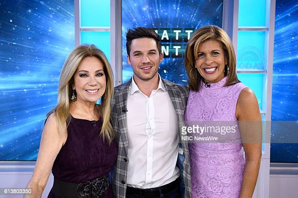Anchor Kathie Lee Gifford Matt Lanter and anchor Hoda Kotb on Monday October 10 2016