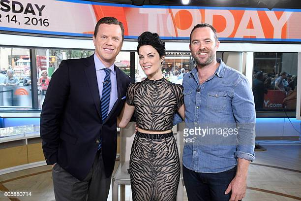 Anchor Willie Geist with Jaimie Alexander and Sullivan Stapleton appear on NBC's 'TODAY' show on Wednesday September 14 2016