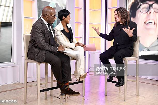 Anchors Al Roker and Tamron Hall with 'Weird Al' Yankovic on Monday October 10 2016