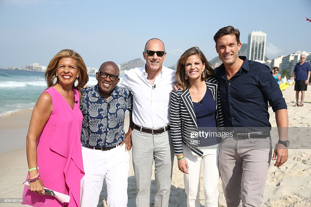 Anchors Hoda Kotb, Al Roker, Matt Lauer, Natalie Morales and Keir Simmons appear on NBC's 'TODAY' show at the Rio Olympics on Monday, August 9, 2016 --