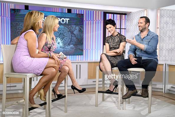Anchors Hoda Kotb and Kathie Lee Gifford with Jaimie Alexander and Sullivan Stapleton appear on NBC's 'TODAY' show on Wednesday September 14 2016