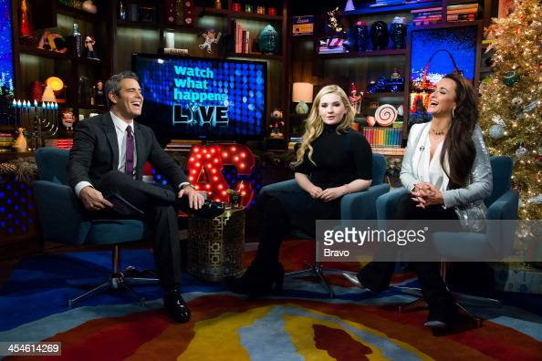 Andy Cohen Abigail Breslin and Kyle Richards Photo by Charles Sykes/Bravo/NBCU Photo Bank via Getty Images