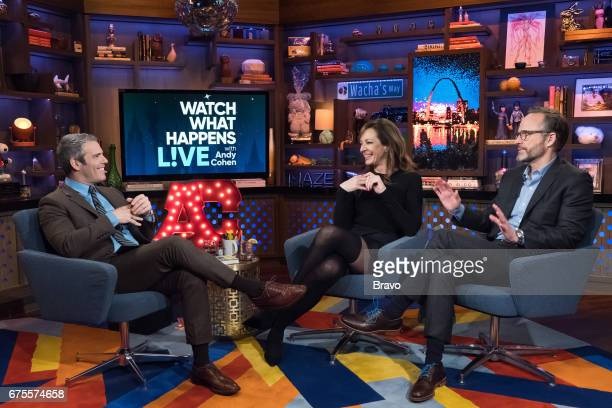 Andy Cohen Allison Janney and John Benjamin Hickey