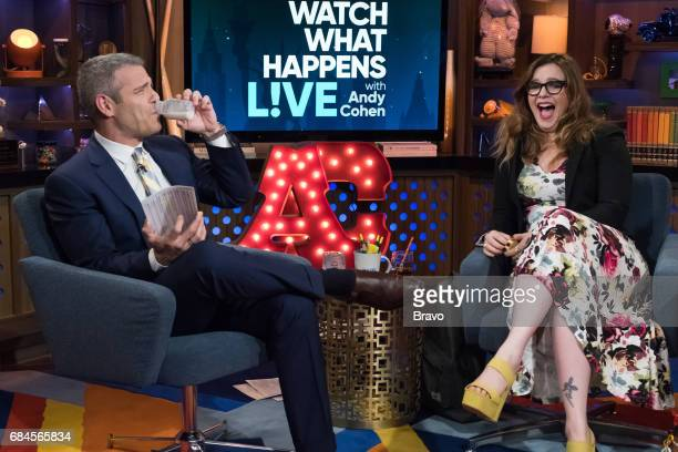 Andy Cohen and Amber Tamblyn