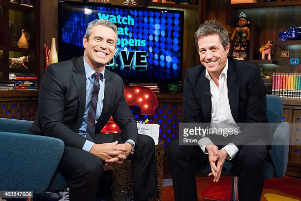 Andy Cohen and Hugh Grant
