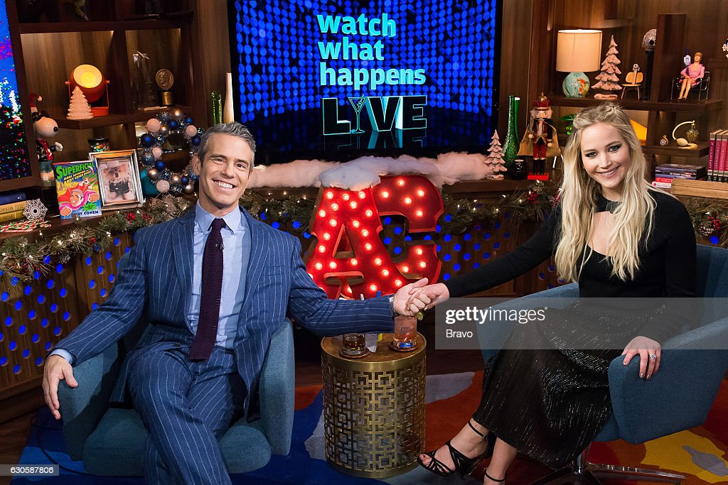 Andy Cohen and Jennifer Lawrence --