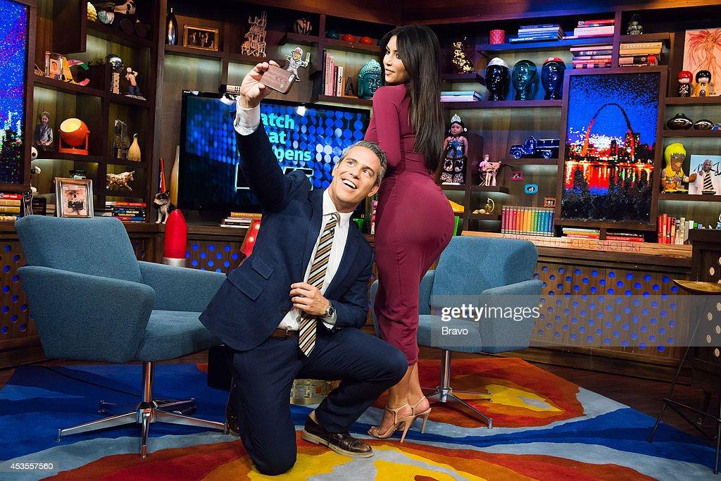 Andy Cohen and Kim Kardashian --