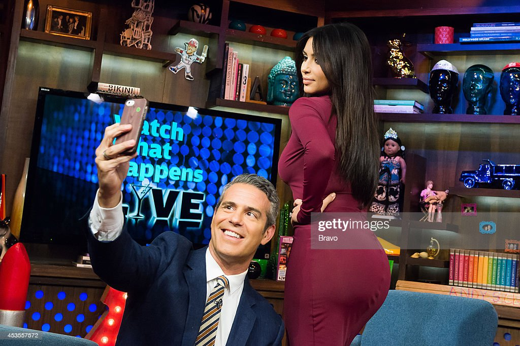 Andy Cohen and Kim Kardashian --