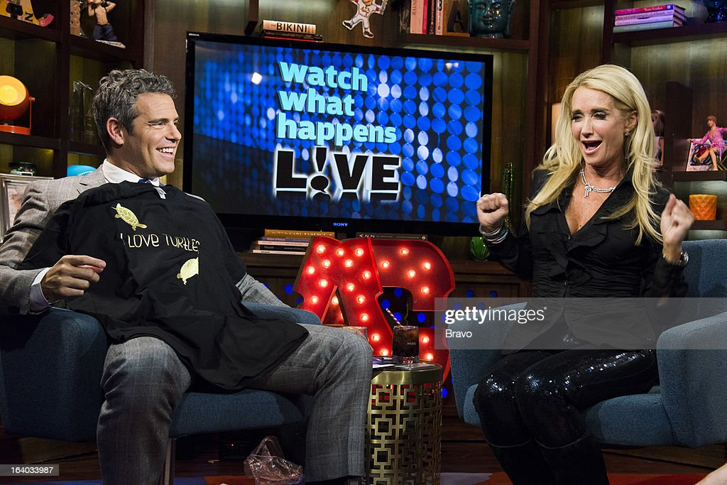 Andy Cohen and Kim Richards -- Photo by: Charles Sykes/Bravo/NBCU Photo Bank via Getty Images