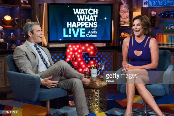 Andy Cohen and Luann D'Agostino