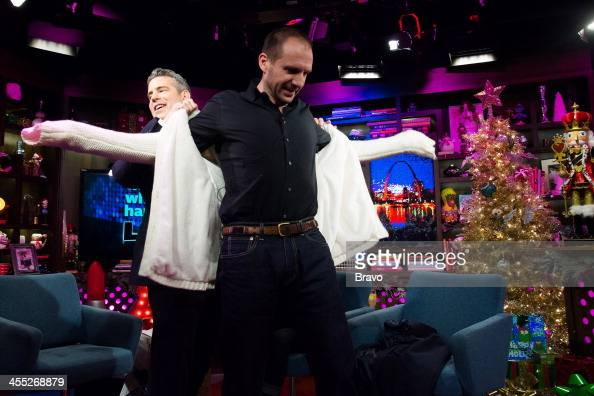 Andy Cohen and Ralph Fiennes Photo by Charles Sykes/Bravo/NBCU Photo Bank via Getty Images