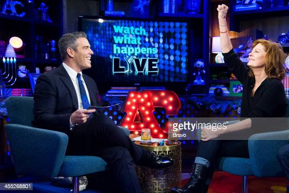 Andy Cohen and Susan Sarandon Photo by Charles Sykes/Bravo/NBCU Photo Bank via Getty Images