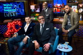 Andy Cohen Apollo Nida Peter Thomas Gregg Leakes and Todd Tucker Photo by Charles Sykes/Bravo/NBCU Photo Bank via Getty Images