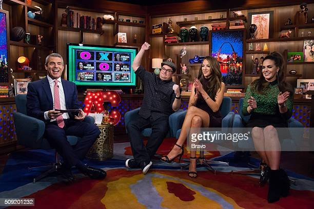 Andy Cohen Bobby Moynihan Kristen Doute and Katie Maloney