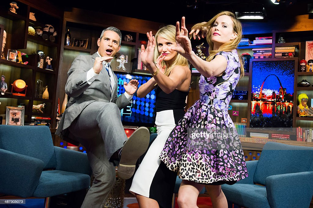 Andy Cohen, Cameron Diaz and Leslie Mann --