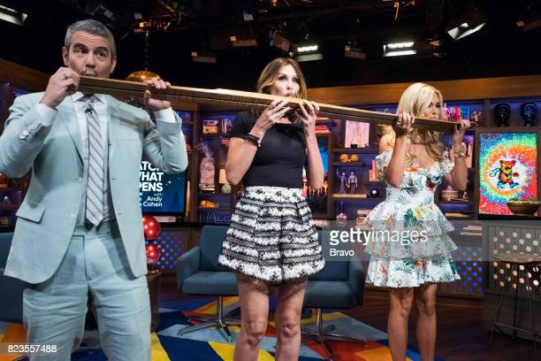 Andy Cohen Carole Radziwill and Tinsley Mortimer