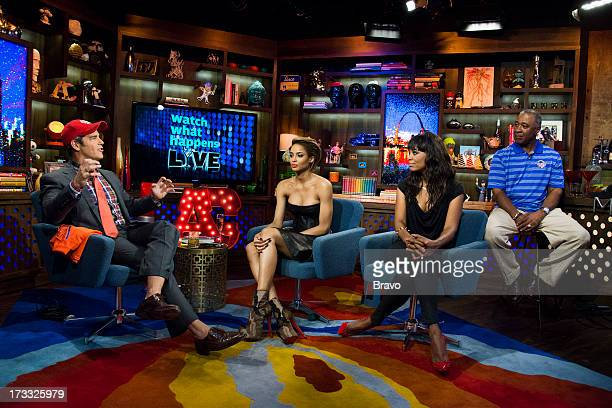 Andy Cohen Ciara Aisha Tyler and Ozzie Smith Photo by Charles Sykes/Bravo/NBCU Photo Bank via Getty Images
