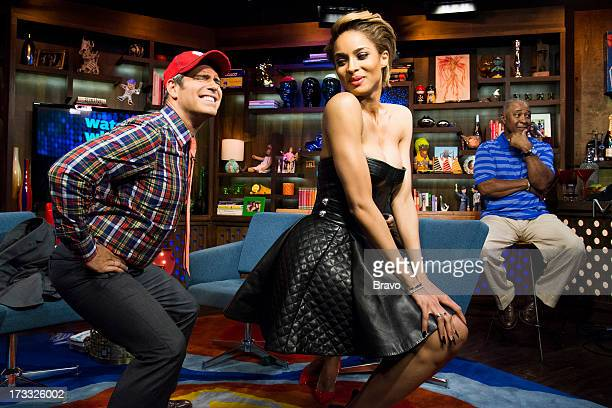 Andy Cohen Ciara and Ozzie Smith Photo by Charles Sykes/Bravo/NBCU Photo Bank via Getty Images