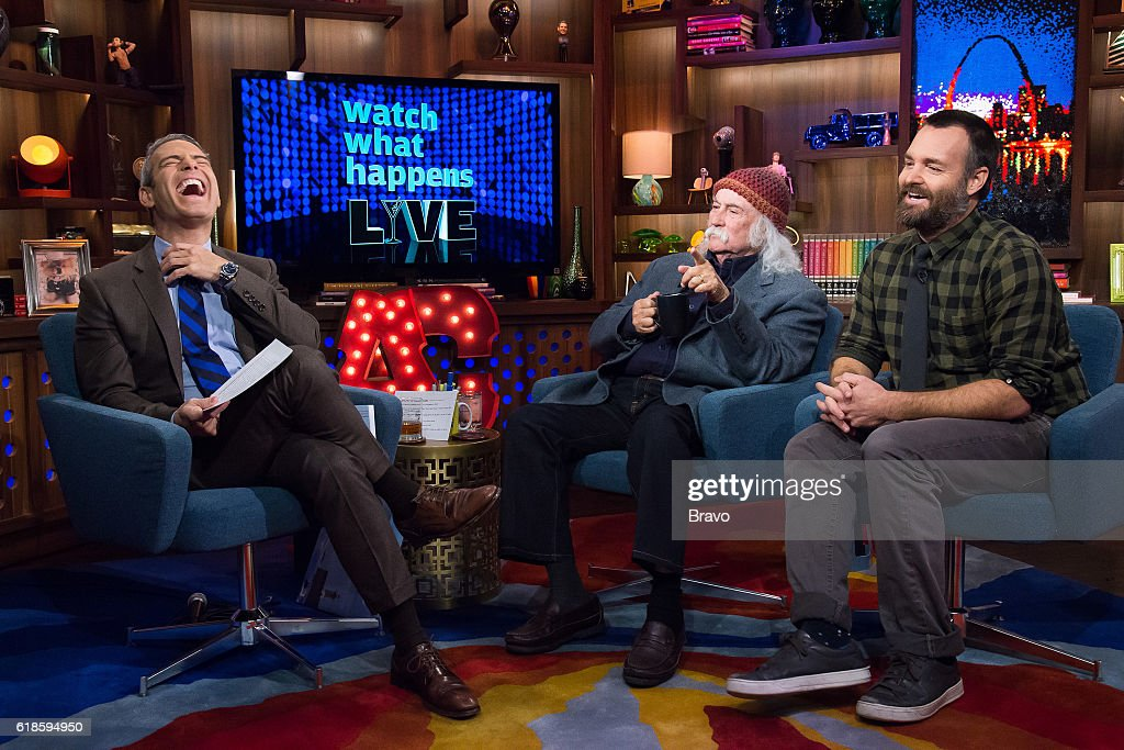 Andy Cohen, David Crosby and Will Forte --