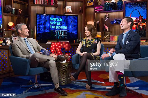 Andy Cohen Ellie Kemper and Craig Conover