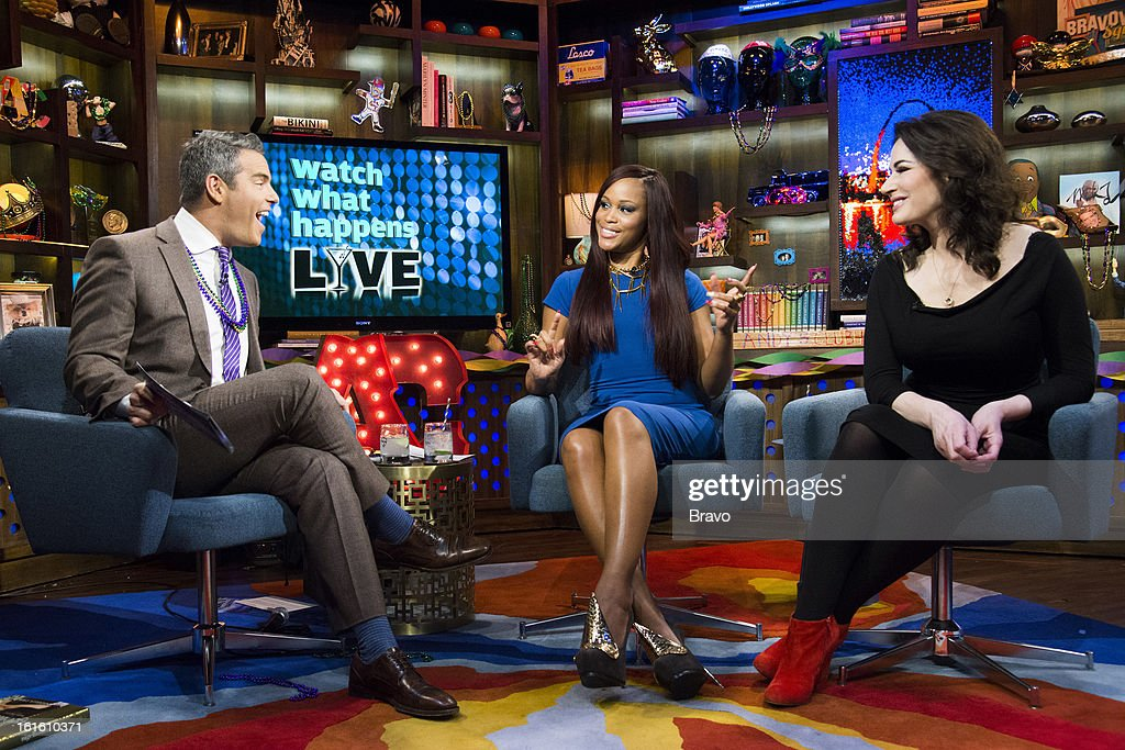 Andy Cohen, Eve and Nigella Lawson -- Photo by: Charles Sykes/Bravo/NBCU Photo Bank via Getty Images
