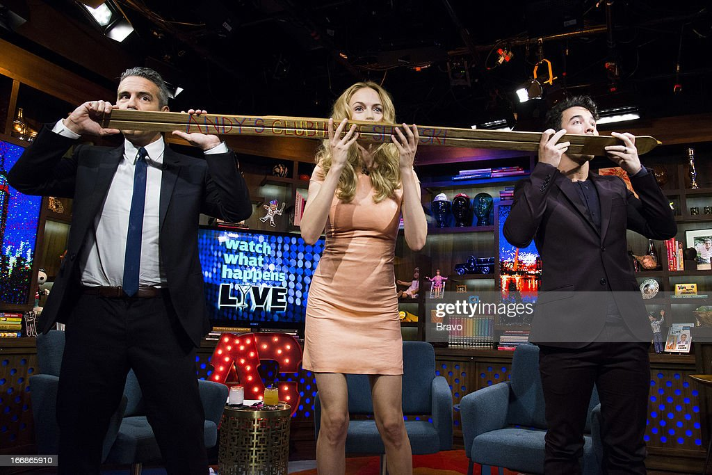 Andy Cohen, Heather Graham and Kevin Jonas -- Photo by: Charles Sykes/Bravo/NBCU Photo Bank via Getty Images