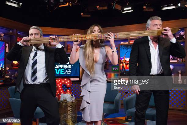 Andy Cohen Jennifer Lopez and Ray Liotta