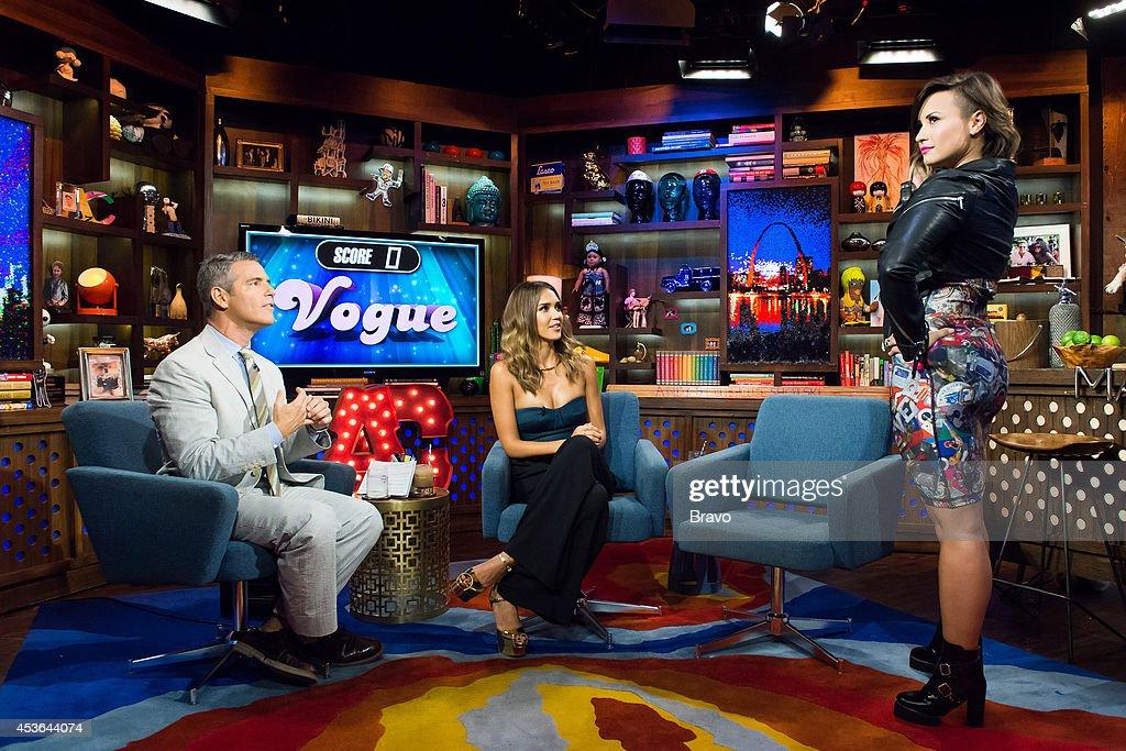 Andy Cohen, Jessica Alba and Demi Lovato --