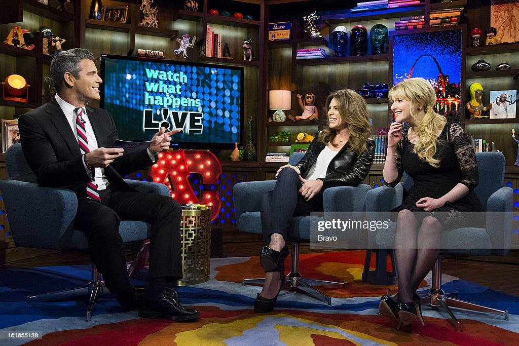 Andy Cohen, Jillian Michaels and Melissa Rauch -- Photo by: Charles Sykes/Bravo/NBCU Photo Bank via Getty Images
