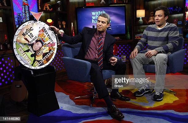 Andy Cohen Jimmy Fallon Photo by Peter Kramer/Bravo/NBCU Photo Bank