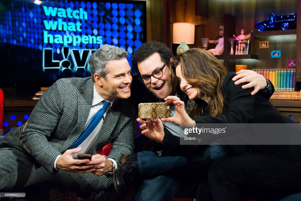 Andy Cohen, Josh Gad and Gina Gershon -- Photo by: Charles Sykes/Bravo/NBCU Photo Bank via Getty Images