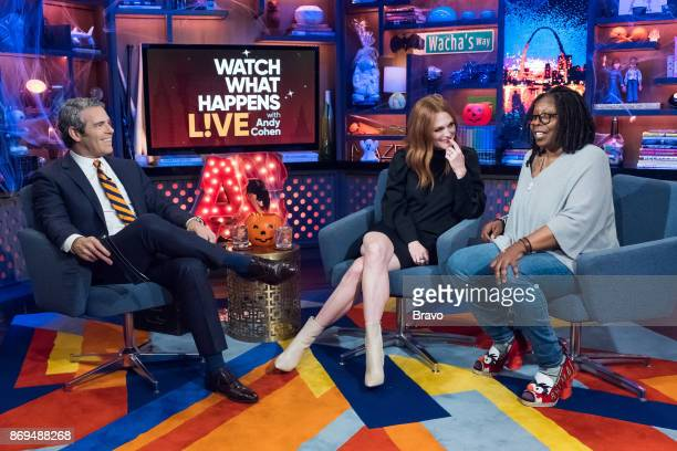 Andy Cohen Julianne Moore and Whoopi Goldberg