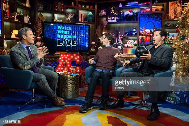 Andy Cohen Justin Long and John Leguizamo Photo by Charles Sykes/Bravo/NBCU Photo Bank via Getty Images