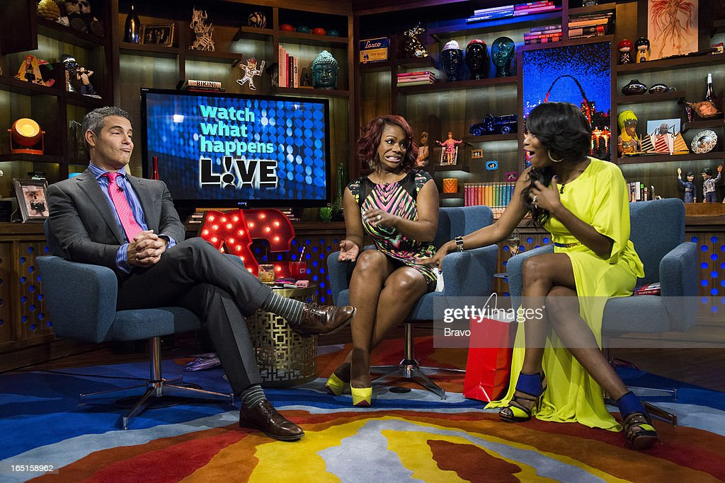 Andy Cohen, Kandi Burruss and Quad Webb-Lunceford -- Photo by: Charles Sykes/Bravo/NBCU Photo Bank via Getty Images