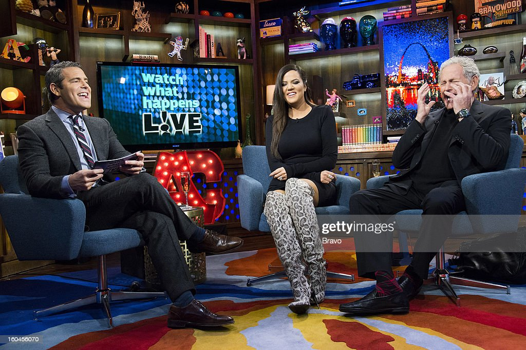 Andy Cohen, Khloe Kardashian and Victor Garber -- Photo by: Charles Sykes/Bravo/NBCU Photo Bank via Getty Images