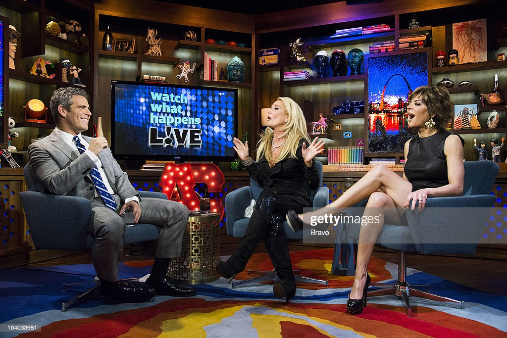 Andy Cohen, Kim Richards and Lisa Rinna -- Photo by: Charles Sykes/Bravo/NBCU Photo Bank via Getty Images