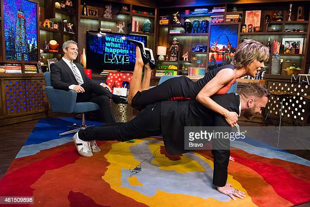 Andy Cohen Lisa Rinna and Bob Harper