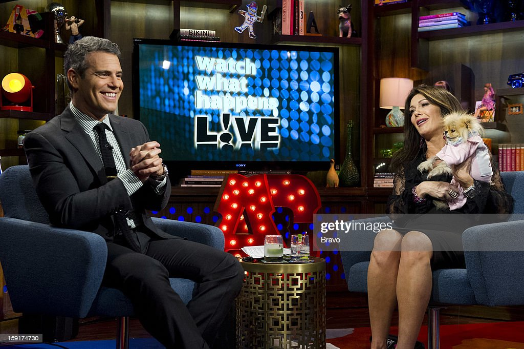 Andy Cohen, Lisa Vanderpump, Giggy the Pomeranian -- Photo by: Charles Sykes/Bravo/NBCU Photo Bank via Getty Images