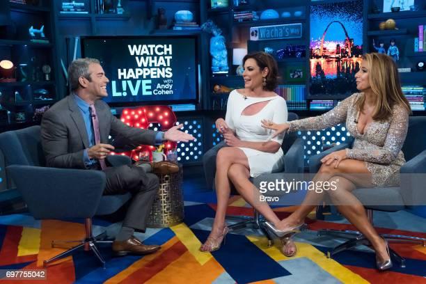 Andy Cohen Luann D'Agostino and Jill Zarin