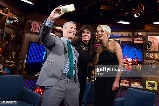 Andy Cohen Marie Osmond and Dorinda Medley
