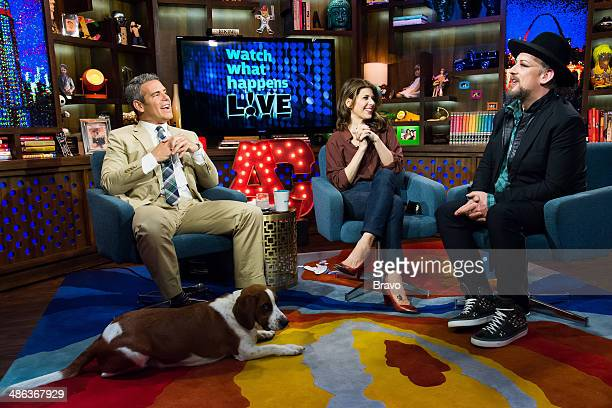 Andy Cohen Marisa Tomei and Boy George
