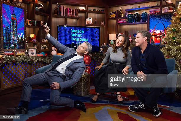 Andy Cohen Maya Rudolph and Will Ferrell