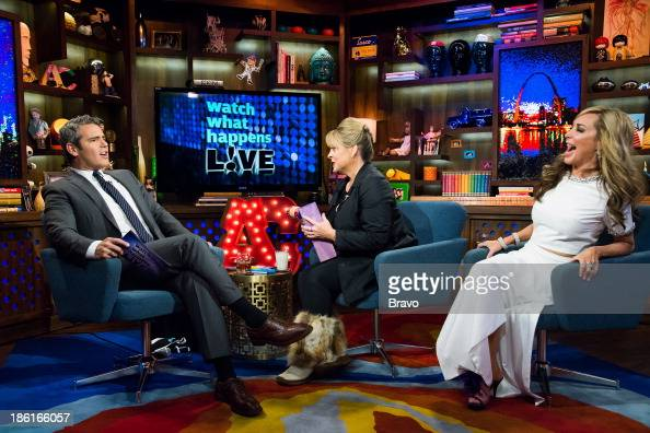 Andy Cohen Nancy Grace and Marysol Patton Photo by Charles Sykes/Bravo/NBCU Photo Bank via Getty Images