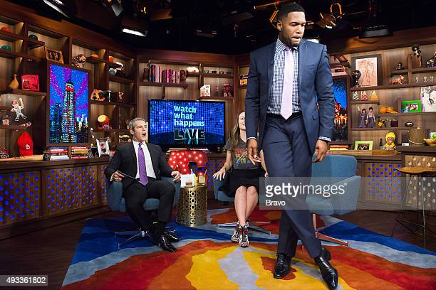 Andy Cohen Olivia Wilde and Michael Strahan