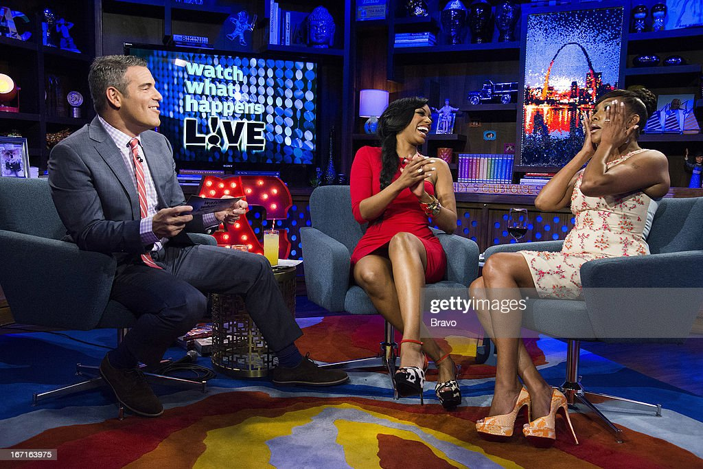 Andy Cohen, Porsha Stewart and Vivica A. Fox -- Photo by: Charles Sykes/Bravo/NBCU Photo Bank via Getty Images