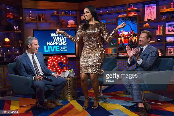 Andy Cohen Porsha Williams and Carson Kressley